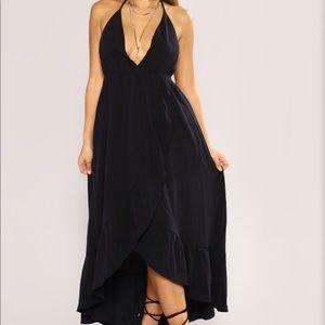 Plus Size Sexy High-low Maxi Dress